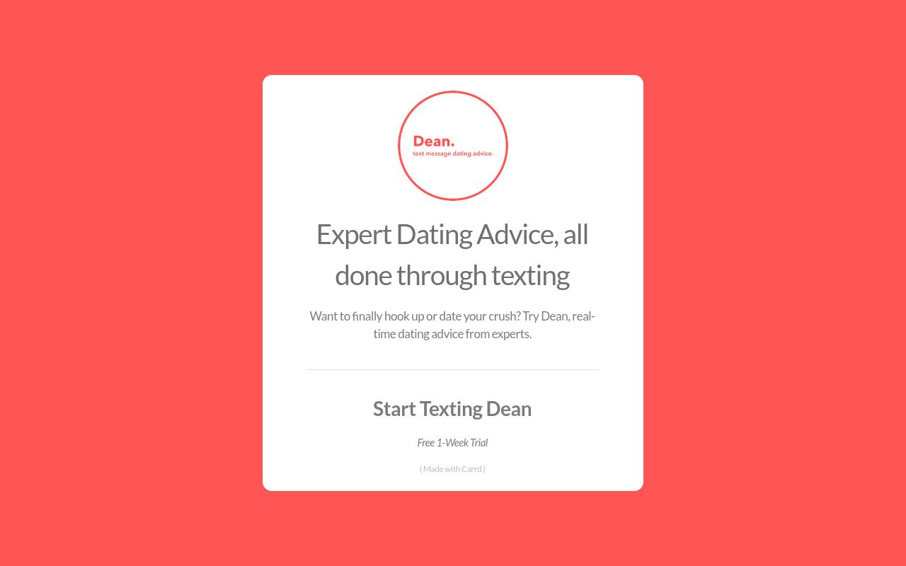 dating advice and texting
